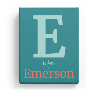 E is for Emerson - Classic