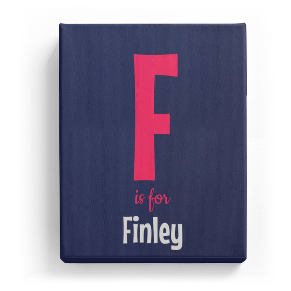F is for Finley - Cartoony