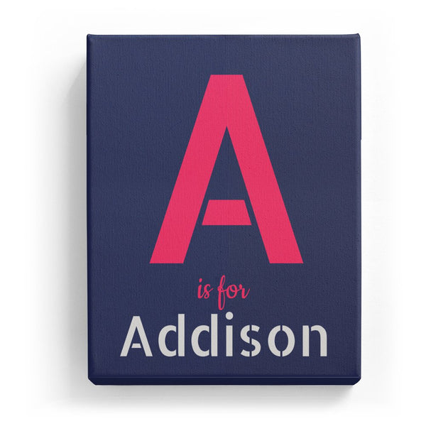 A is for Addison - Stylistic