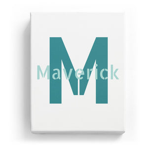 Maverick Overlaid on M - Stylistic