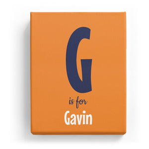 G is for Gavin - Cartoony