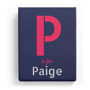 P is for Paige - Stylistic