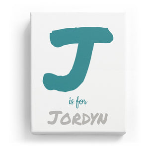J is for Jordyn - Artistic