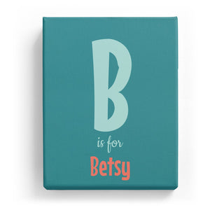 B is for Betsy - Cartoony