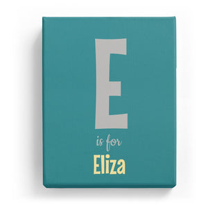 E is for Eliza - Cartoony