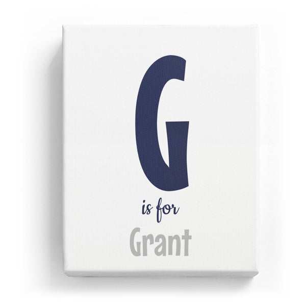 G is for Grant - Cartoony