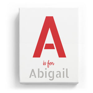 A is for Abigail - Stylistic