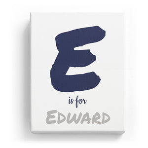 E is for Edward - Artistic
