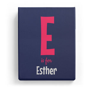E is for Esther - Cartoony