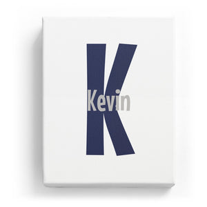 Kevin Overlaid on K - Cartoony