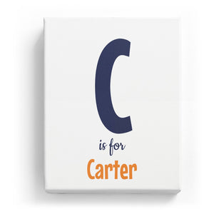 C is for Carter - Cartoony