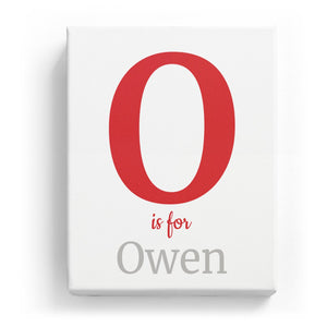 O is for Owen - Classic