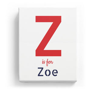 Z is for Zoe - Stylistic