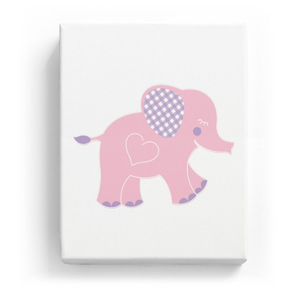 Elephant with a Heart - No Background