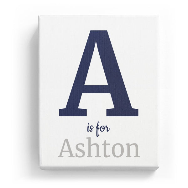A is for Ashton - Classic