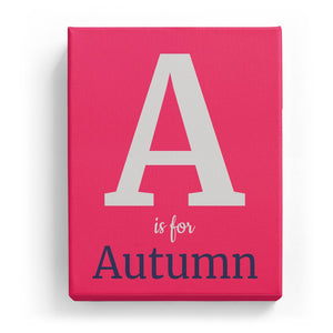 A is for Autumn - Classic