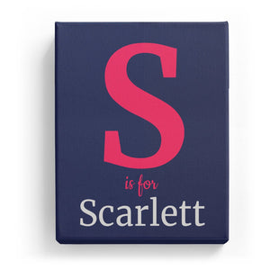 S is for Scarlett - Classic