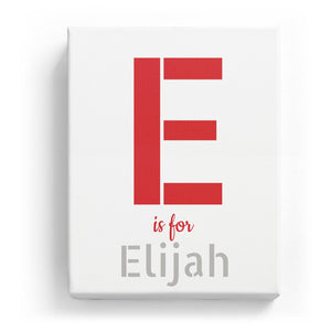 E is for Elijah - Stylistic