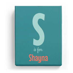 S is for Shayna - Cartoony