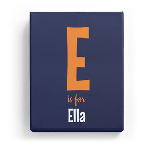 E is for Ella - Cartoony