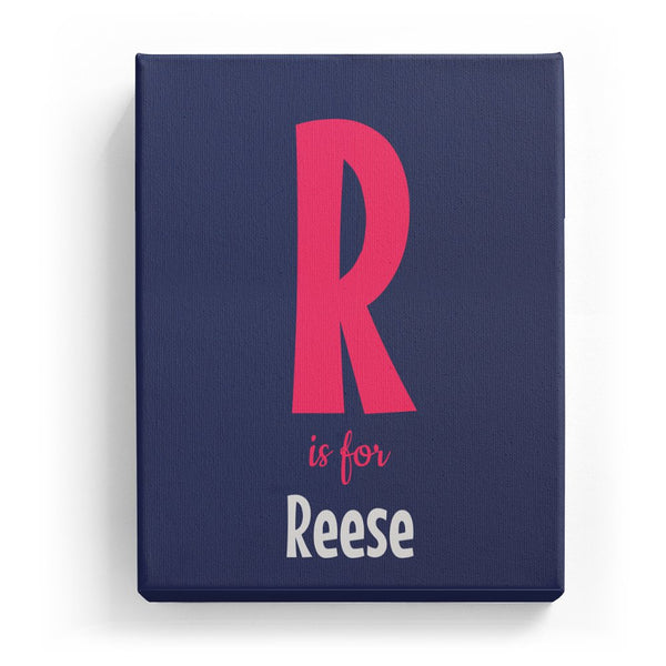R is for Reese - Cartoony