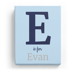 E is for Evan - Classic