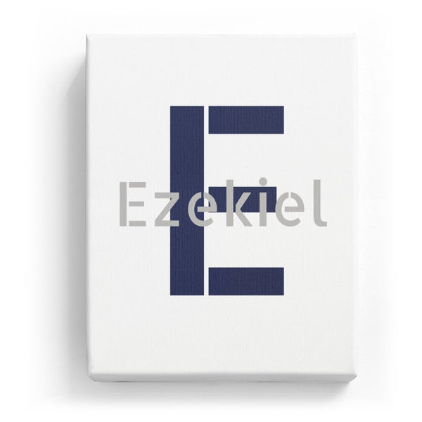 Ezekiel Overlaid on E - Stylistic