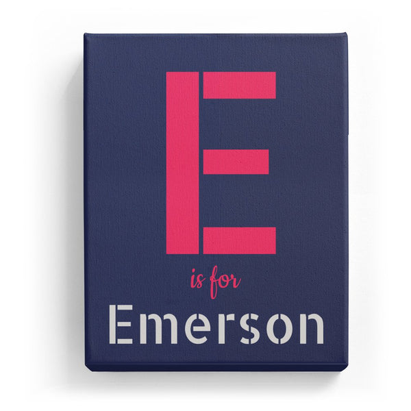 E is for Emerson - Stylistic
