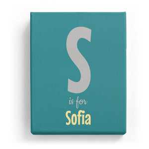 S is for Sofia - Cartoony