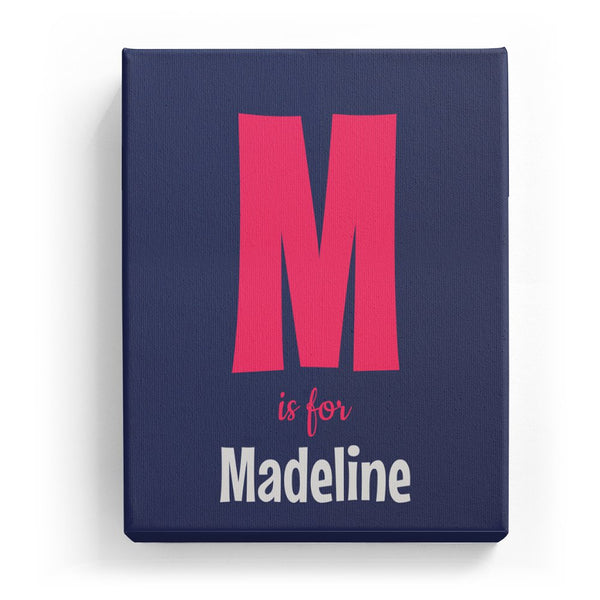 M is for Madeline - Cartoony