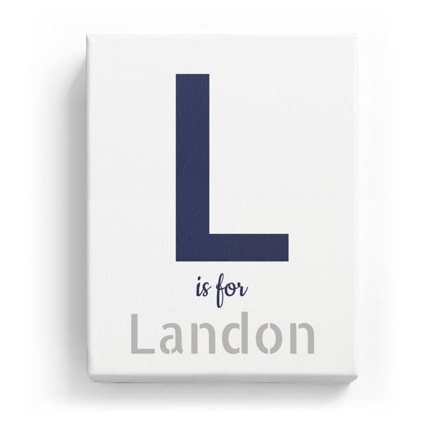 L is for Landon - Stylistic