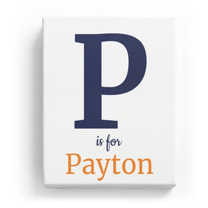 P is for Payton - Classic