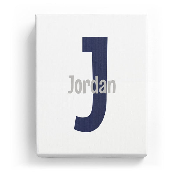 Jordan Overlaid on J - Cartoony