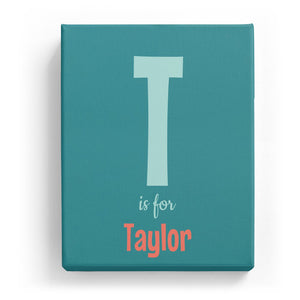 T is for Taylor - Cartoony