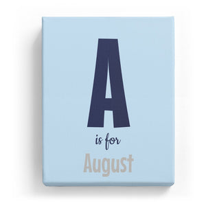 A is for August - Cartoony