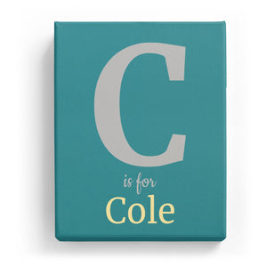 C is for Cole - Classic