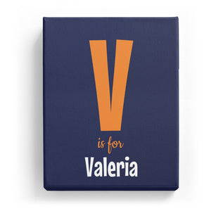 V is for Valeria - Cartoony