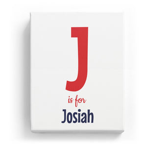 J is for Josiah - Cartoony