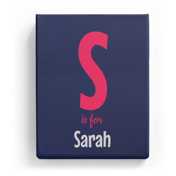 S is for Sarah - Cartoony