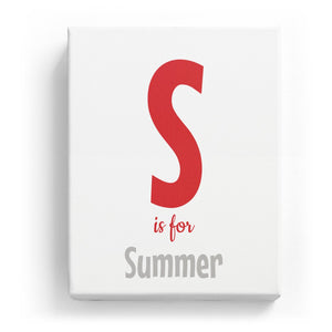 S is for Summer - Cartoony