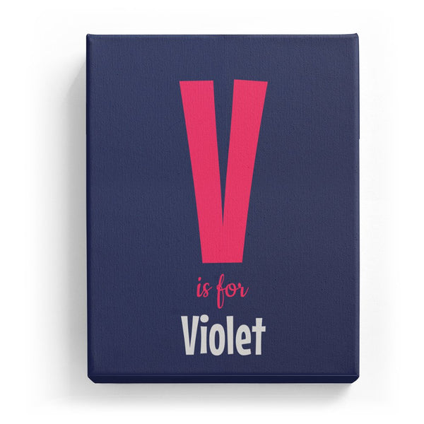 V is for Violet - Cartoony