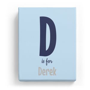 D is for Derek - Cartoony