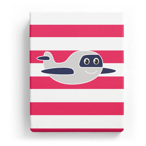 Smiling Plane with Stripes