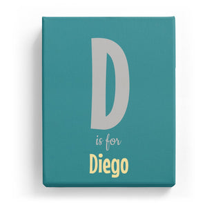 D is for Diego - Cartoony
