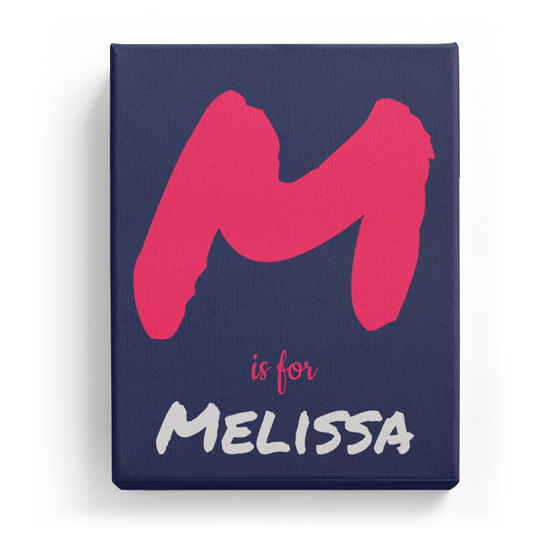 M is for Melissa - Artistic
