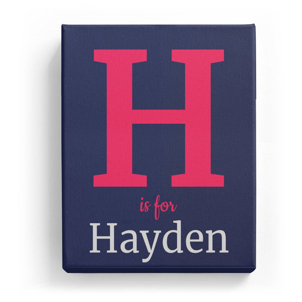 H is for Hayden - Classic