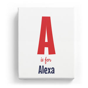 A is for Alexa - Cartoony