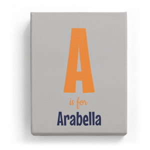 A is for Arabella - Cartoony