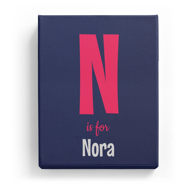 N is for Nora - Cartoony