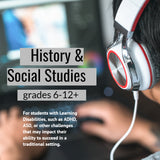 History & Social Studies tutoring for students with learning differences